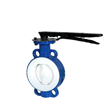 title='PTFE lined wafer butterfly valve'