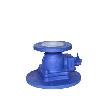 title='PTFE lined flanged feeding ball valve'